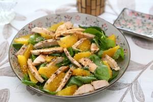 Салат из курицы со шпинатом