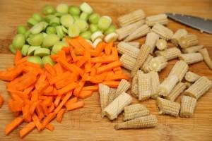 Грибной суп с креветками и овощами по-азиатски 4