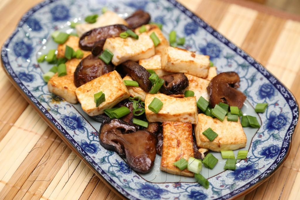 Шиитаке с тофу в соусе хойсин 8