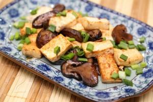 Шиитаке с тофу в соусе хойсин