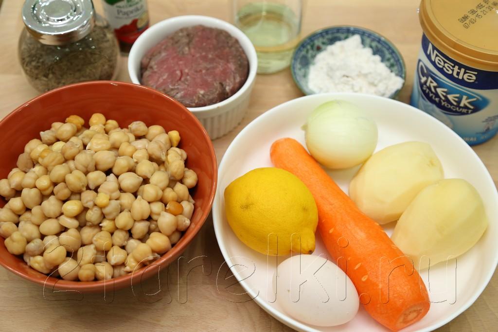 Суп с фрикадельками и нутом по-турецки 1