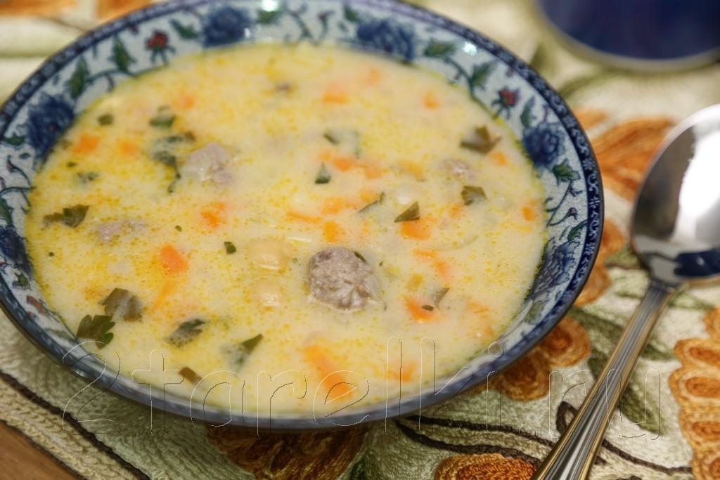 Суп с фрикадельками и нутом по-турецки