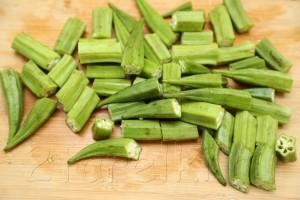 Овощное рагу с бамией (окрой) 5