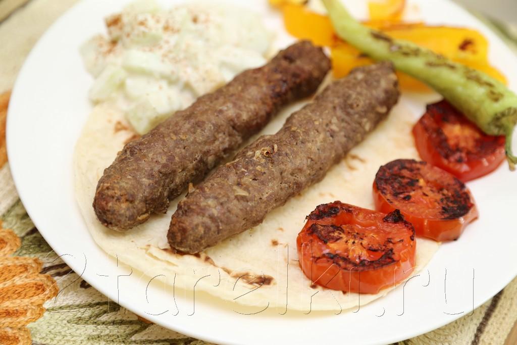 Кебабы с овощами по-турецки