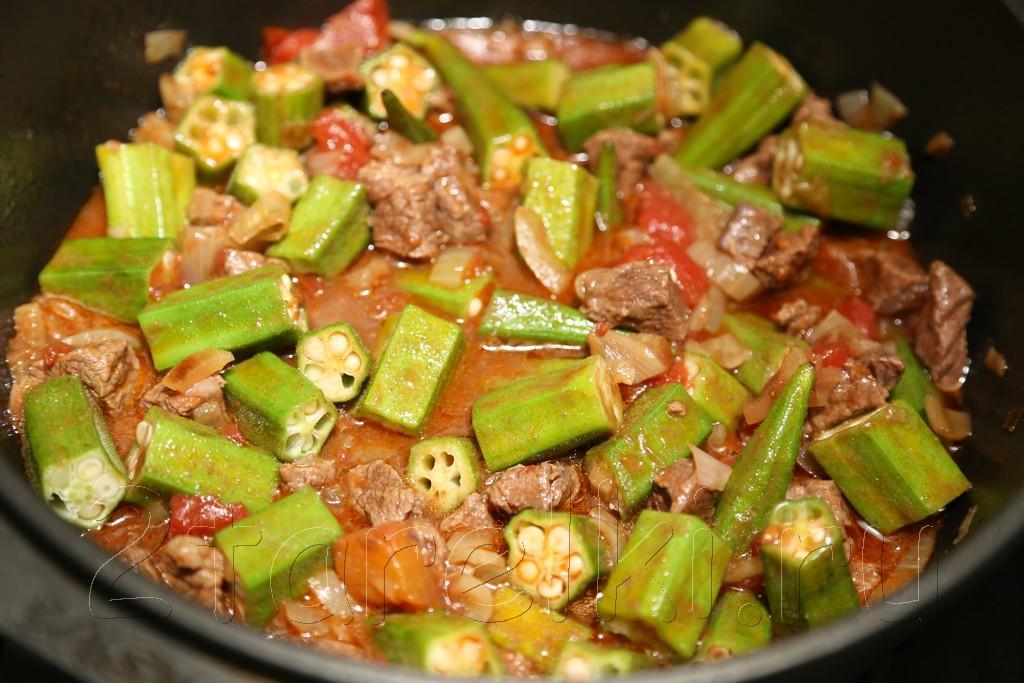 Тушеное мясо с бамией 9