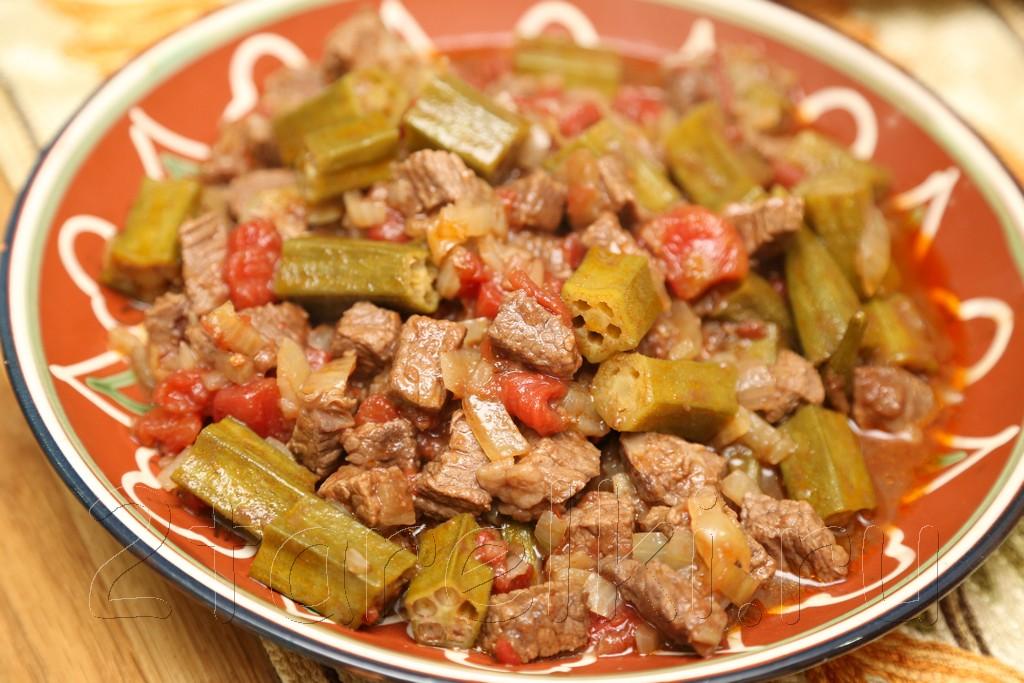 Тушеное мясо с бамией 10