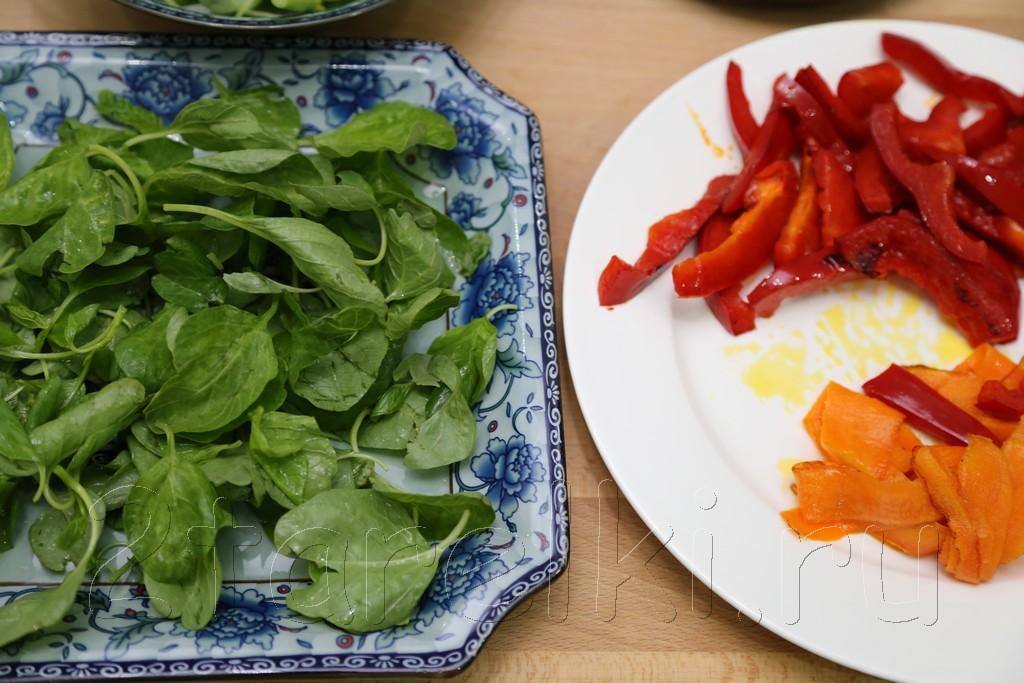 Салат из шпината с слабосоленой семгой 6