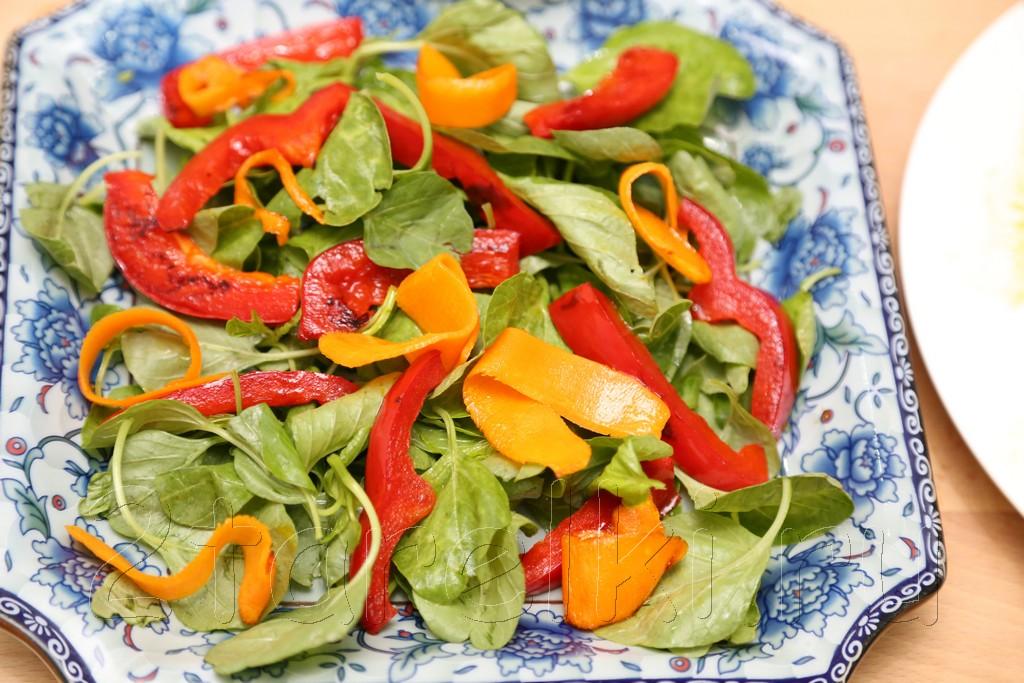 Салат из шпината с слабосоленой семгой 7