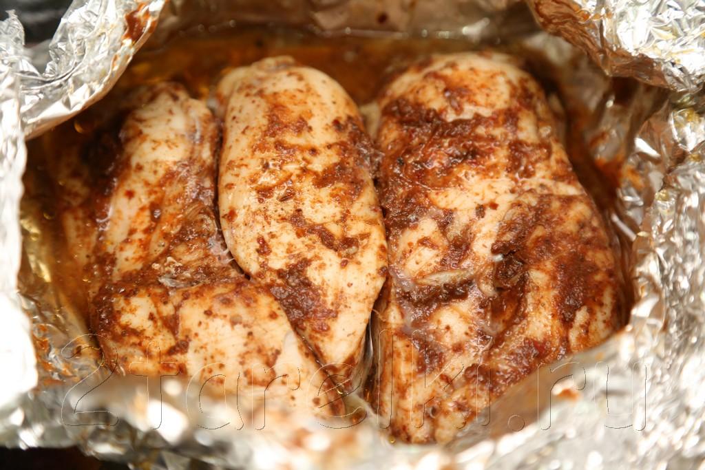 Пастрома из куриной грудки в острой глазури 5