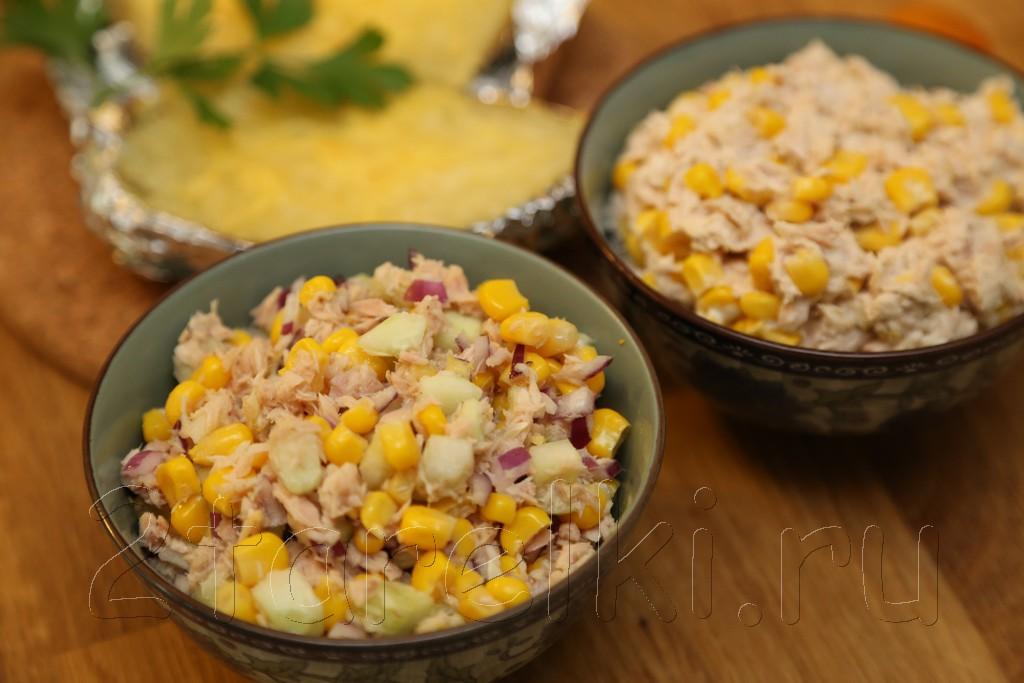 Фитнес-салат из тунца и овощей