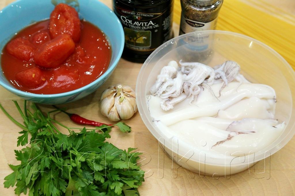 Кальмары в томатном соусе 1