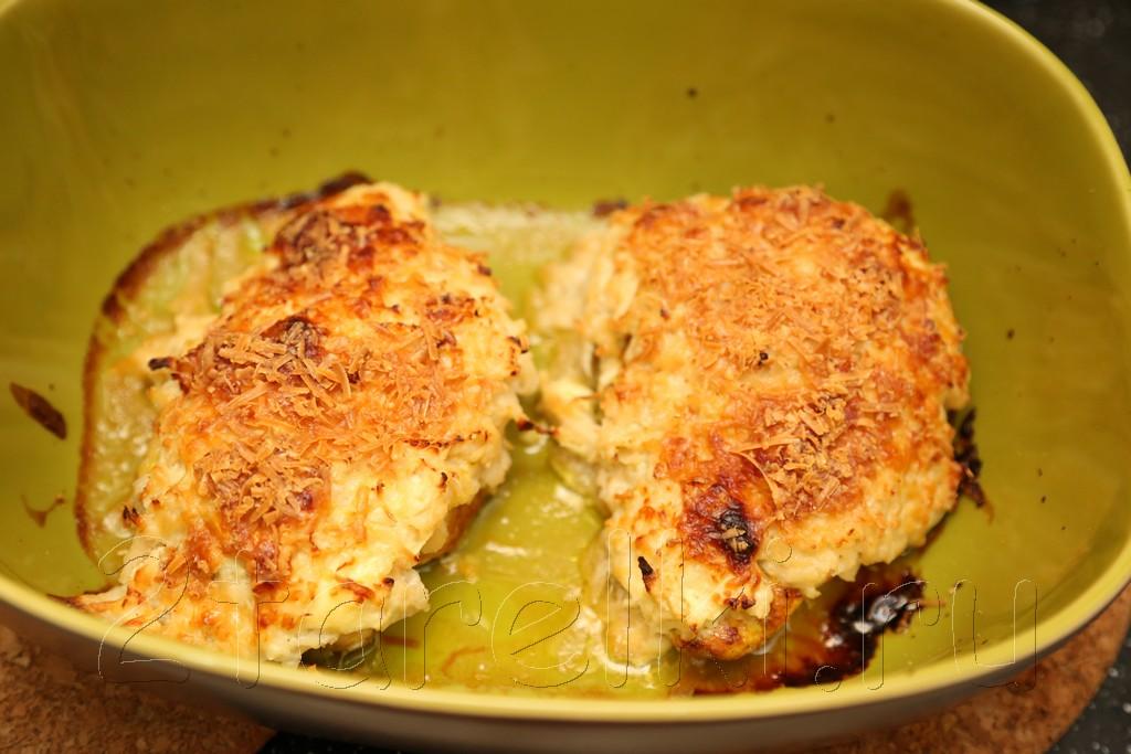 Куриное филе под яблочно-сырной корочкой 9