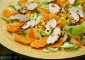 "Салат с курицей и мандаринами ""Зимнее солнце"""