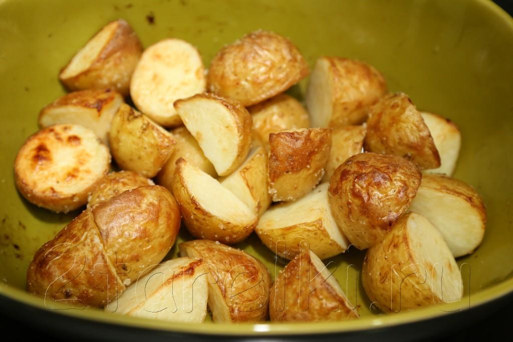 Печеная картошка на утином или гусином жире 3