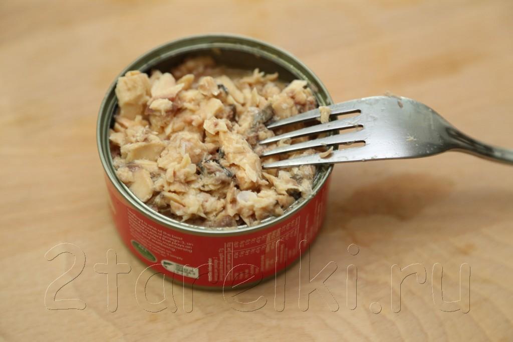 Салат из риса с рыбой 2