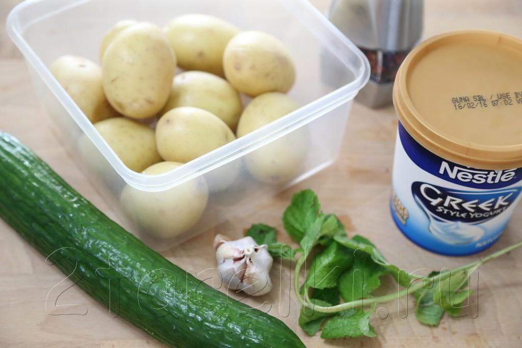 Картофельный салат с мятой 1