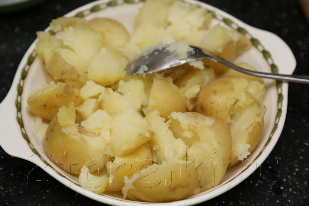 Картофельный салат с мятой 3