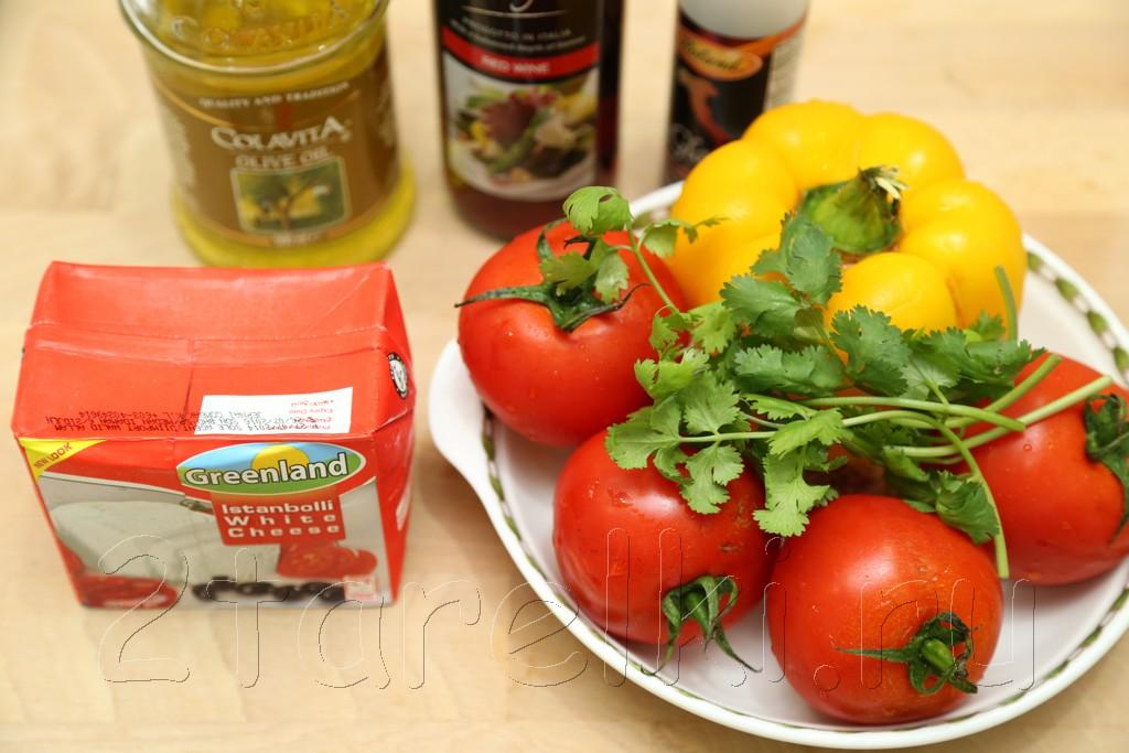 Овощи с брынзой из духовки 1