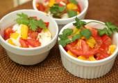 Овощи с брынзой из духовки