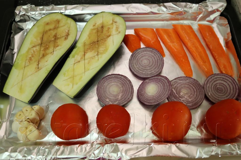 Суп-пюре из овощей-гриль 2