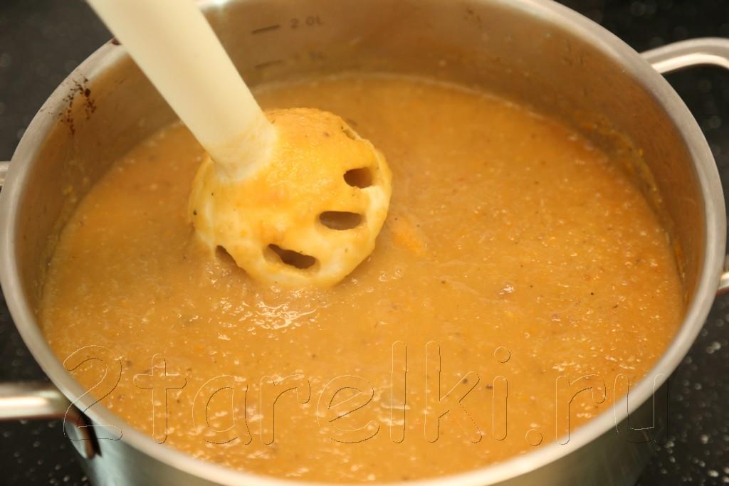 Суп-пюре из овощей-гриль 8
