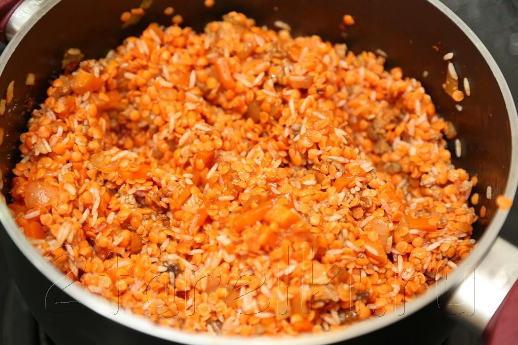 Суп с бараниной, рисом и чечевицей 8