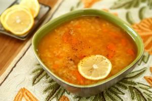 Суп с бараниной, рисом и чечевицей
