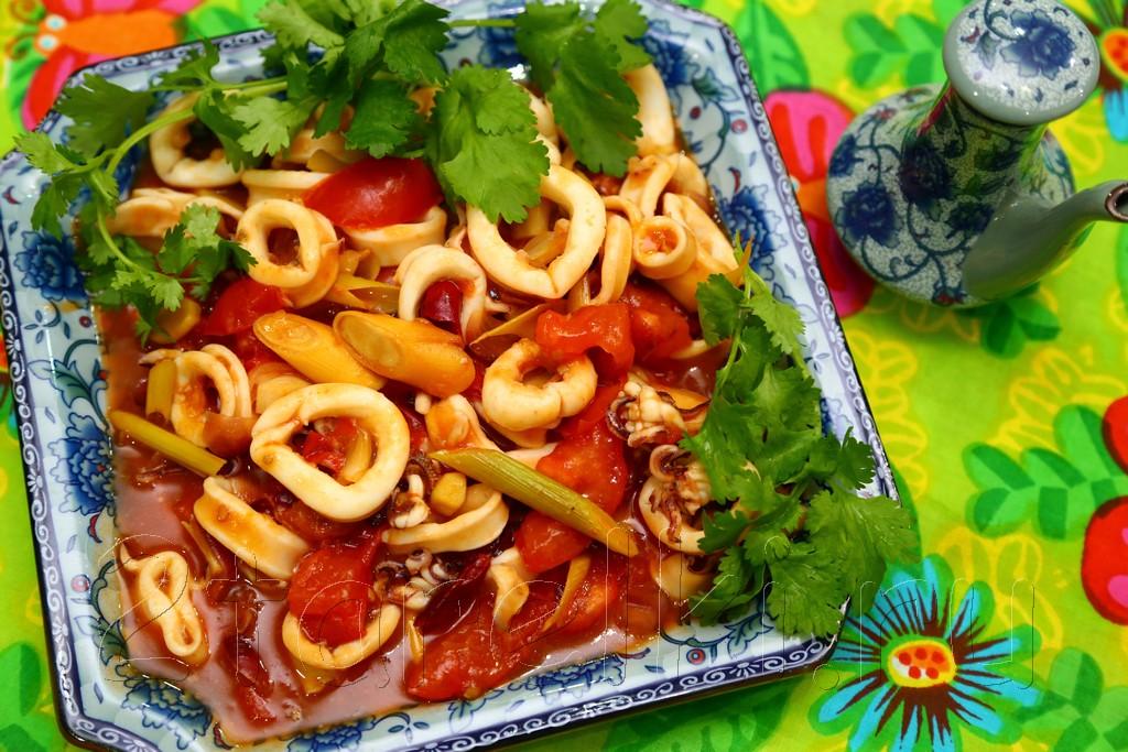 Кальмары в томатном соусе по-малайзийски 11