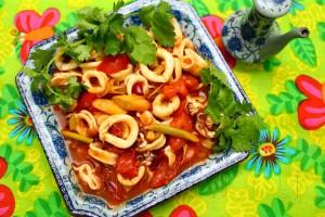 Кальмары в томатном соусе по-малайзийски