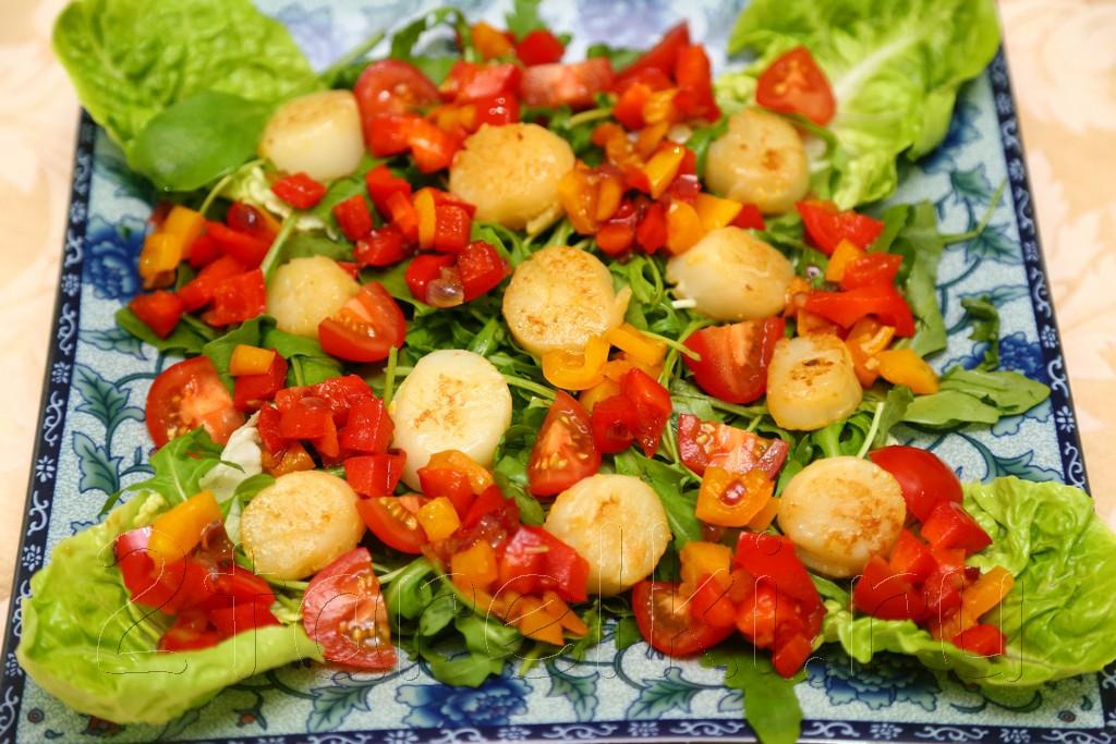 Салат с гребешками 9