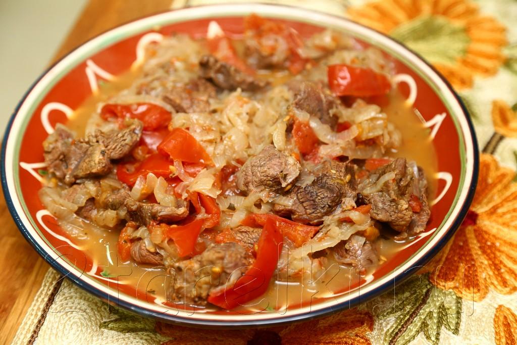 Тушеная говядина по-гречески 9