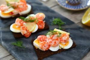 Шведские бутерброды с креветками 6