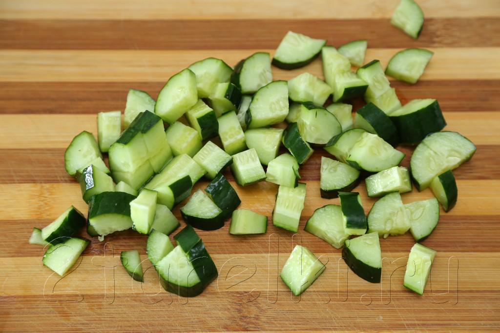 Картофельный салат с горошком