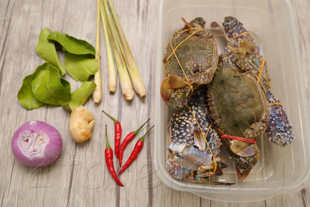 Крабы вареные с тайскими специями